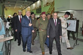 A high level delegation from the Ministry of Defense visits the center