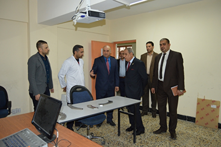 The President of the University visits the Center